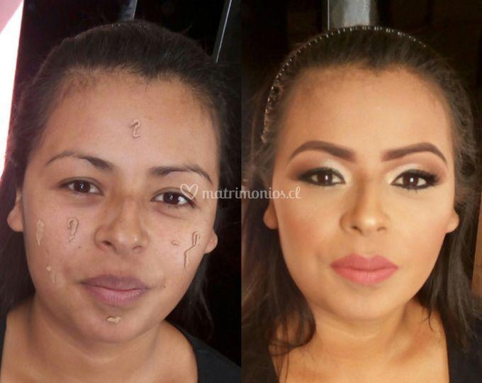 Maquillaje novia romántica