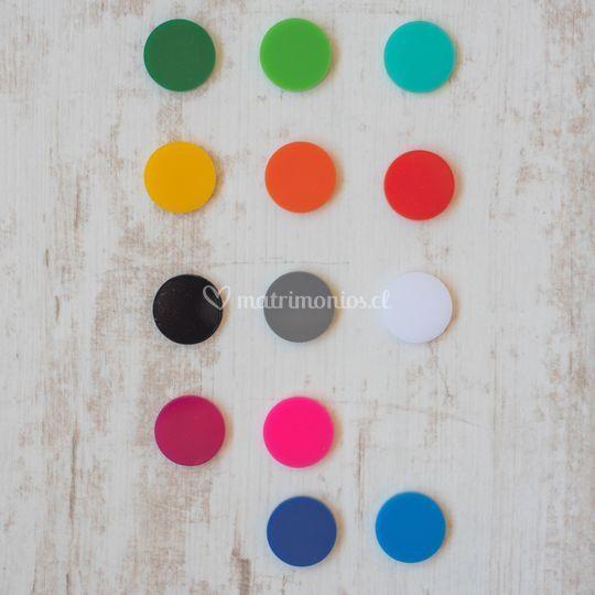 Acrílico de colores
