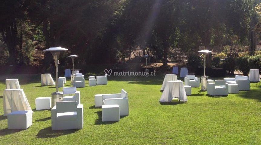 Mobiliario eventos aire Libre