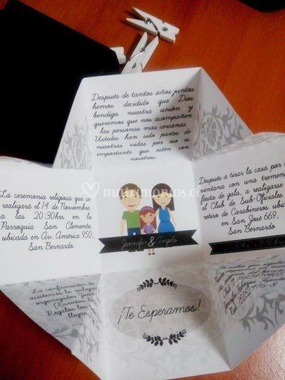 Parte de matrimonio cajita