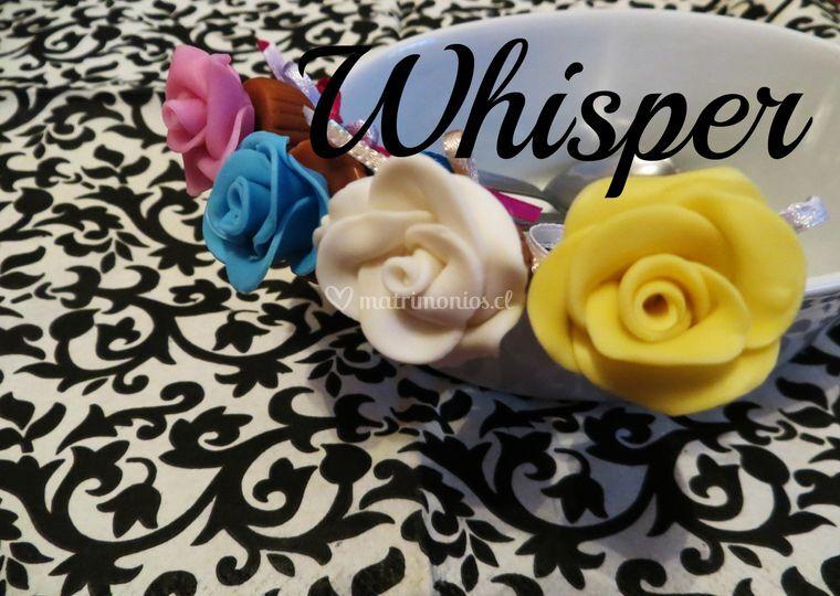 Rosas modeladas a mano