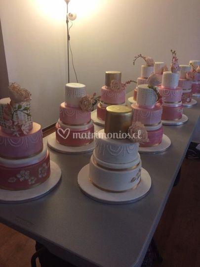 Algunas tortas preparadas