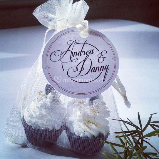 Souvenirs jabón cupcake