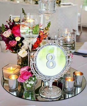Espejo número de mesa