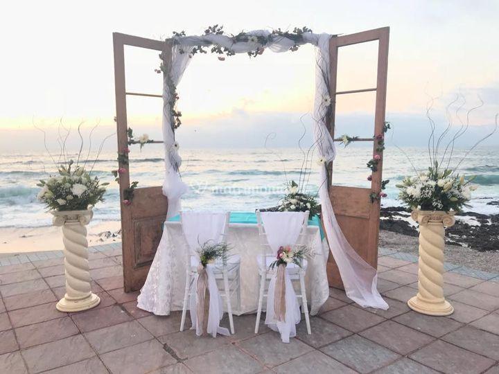 Arco de novia en la playa