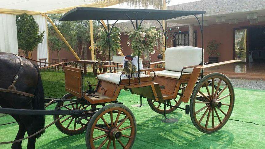 Carro especial para la novia