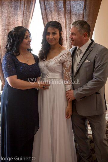 La novia y sus padres