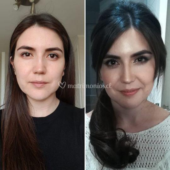 Prueba makeup y peinado novia