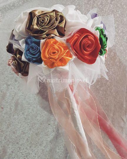 Ramo de flores de tela