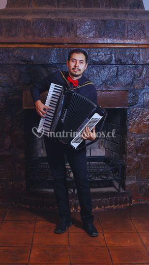 Elías Alegría, acordeonista