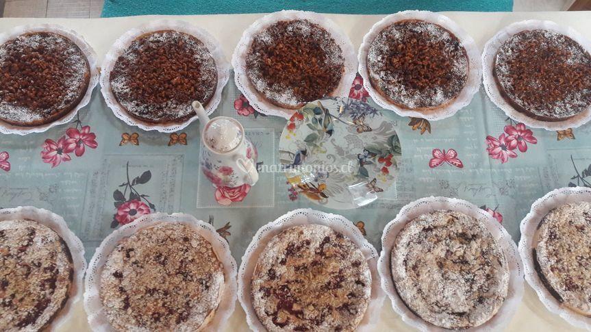 Variedad de kuchen y tartas