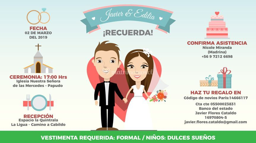 Save the date javier y edi