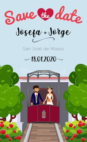 Save the date josefa y jorge