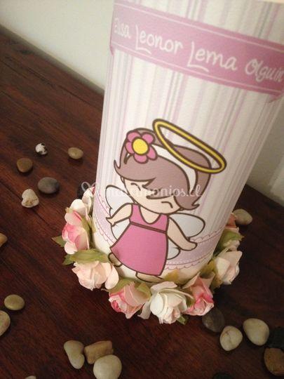 Porta velas floral