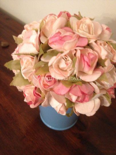 Maceta floral celeste