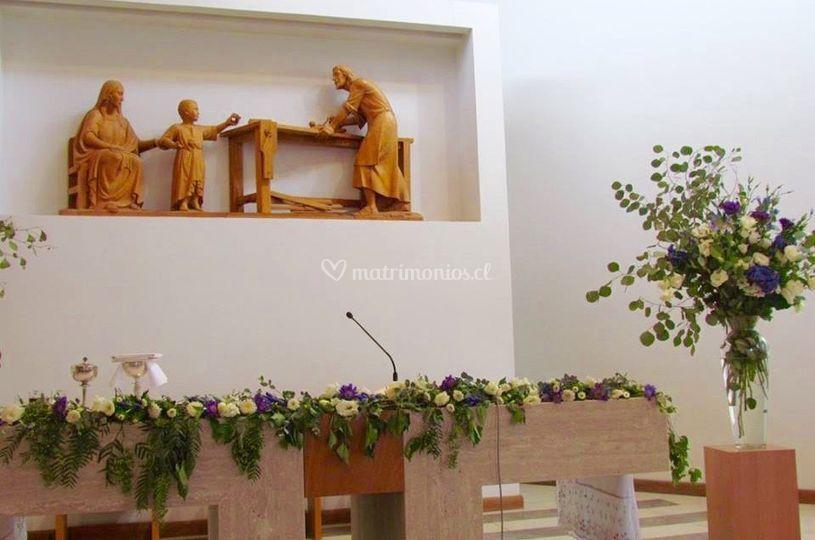 Decoración altar iglesia
