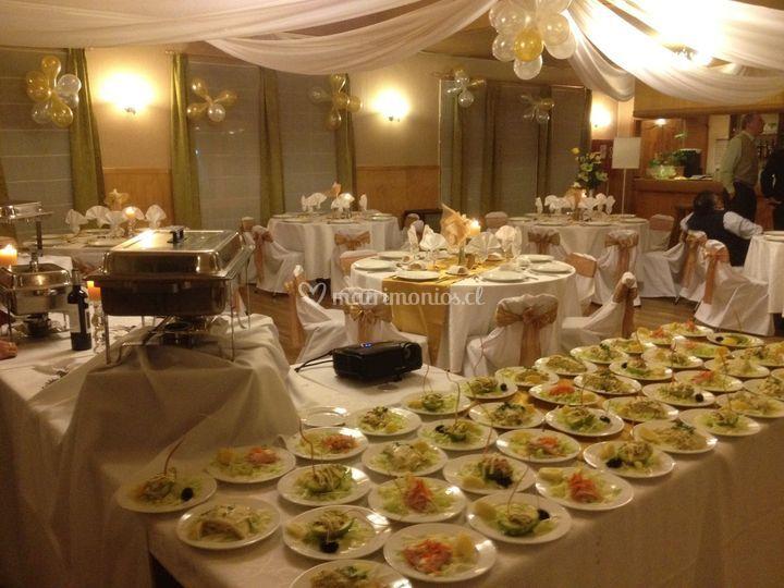Platos preparados para el banquete