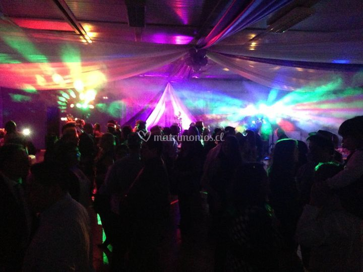 Iluminación de la pista de baile