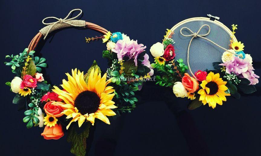 Set novia ramo+porta alianza