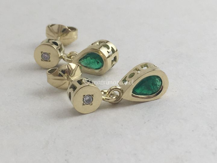 Oro amarillo & esmeraldas
