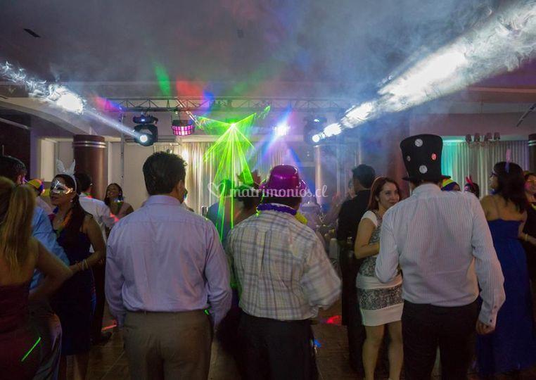 Iluminación de fiesta de MC Amplificación
