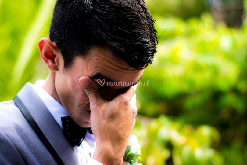 La emoción del novio