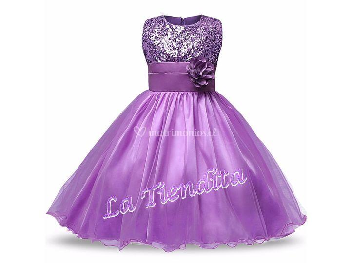 Vestido lentejuelas lila