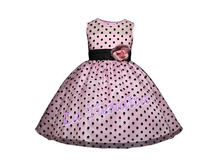 Vestido lunares chic rosado