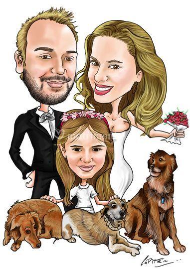 Dibujo para parte matrimonio