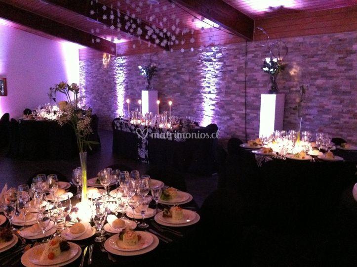 Iluminacion mesa invitados