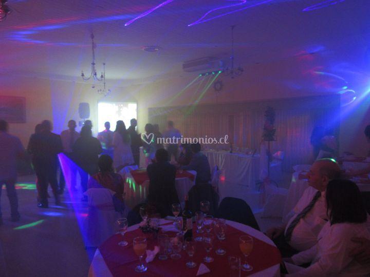 Matrimonio show luces