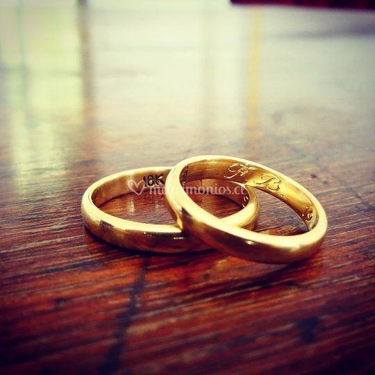 Argollas oro inglesas
