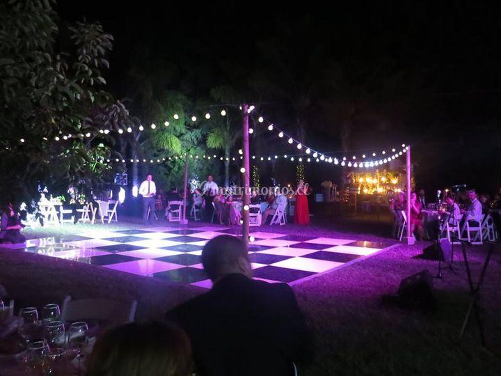 Deco aerea y pista de baile