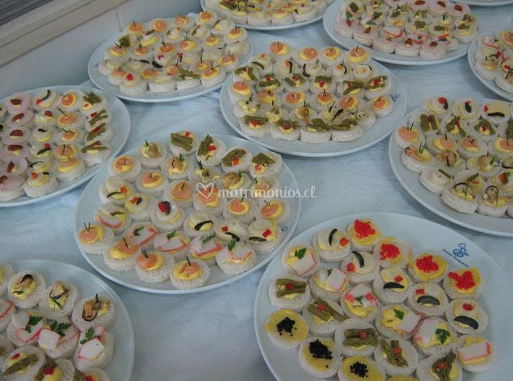 Lo flores eventos for Canape para coctel