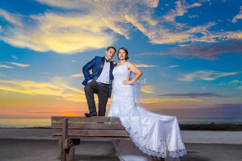 Traje de novia y novio
