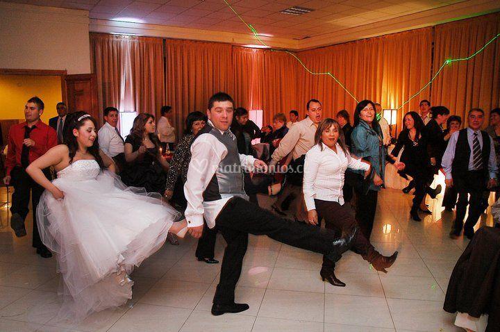 Disfrutando del baile entretenido