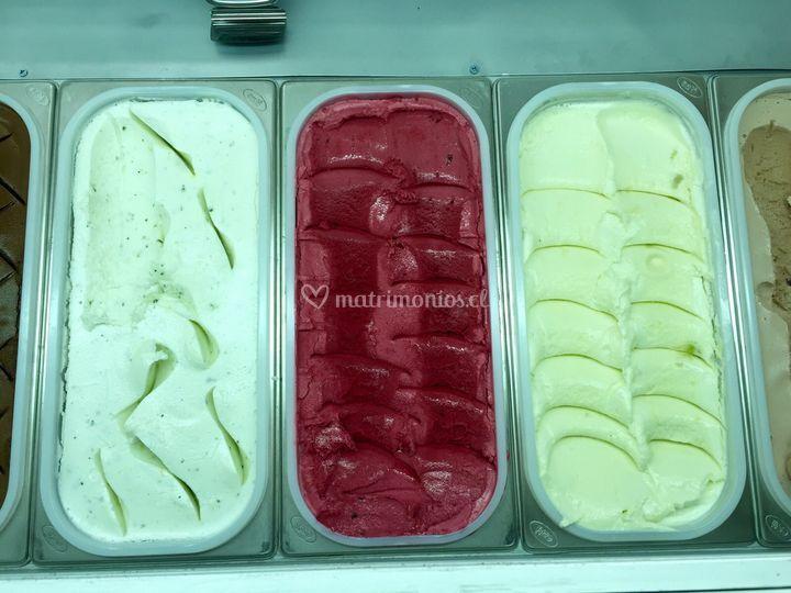 Ice cream, fruta, helados