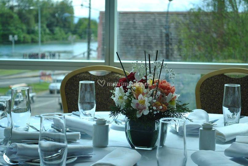 Centros de mesa invitados