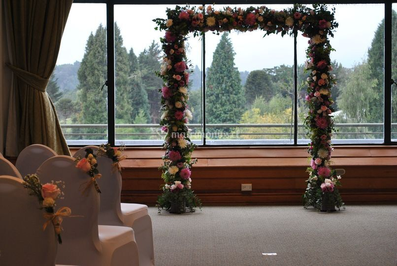Arco floral hotel puyehue