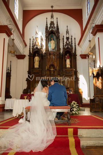 En el altar