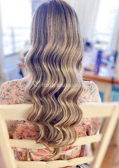 Peinado ondas de sirena