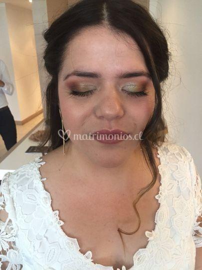 Maquillaje de novia otoñal