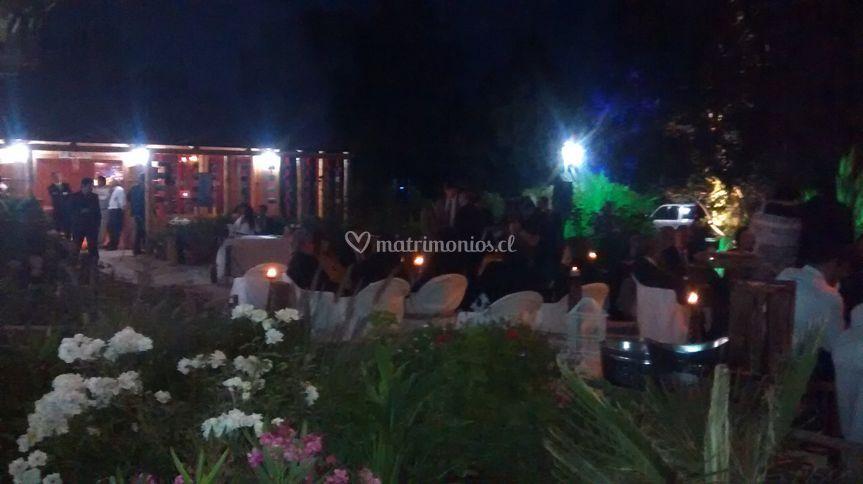 Vista de noche en matrimonio