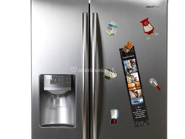 Recuerdo en el refrigerador