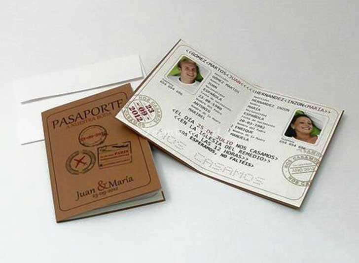 Invitación Tipo Pasaporte De Angel Gardien Foto 10