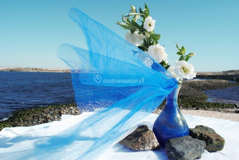 Un detalle de la boda