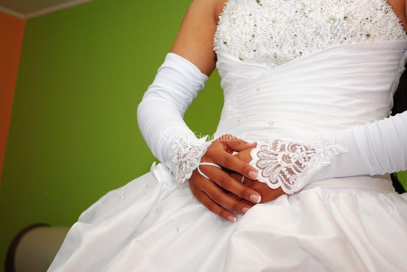 Un detalle de la novia