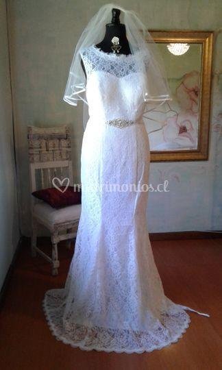 Vestido Sirena blanco, 44