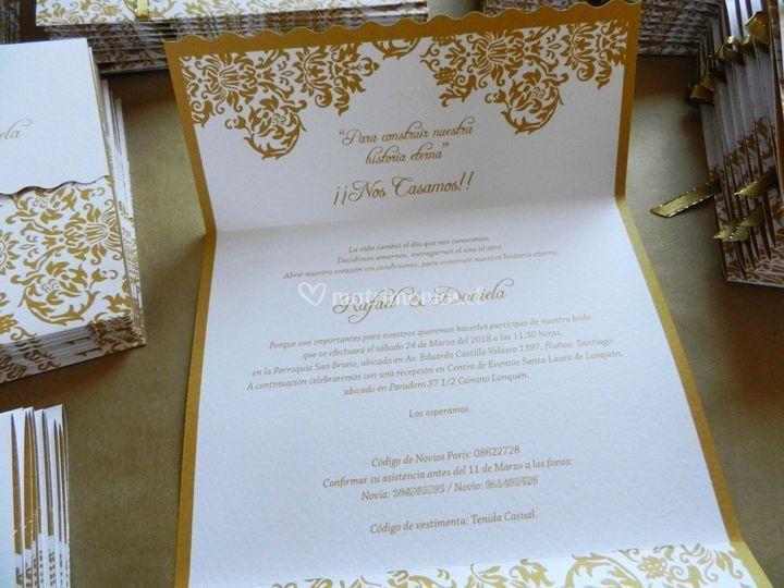 Invitación gold