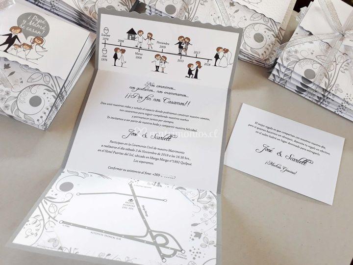 Invitación grey family